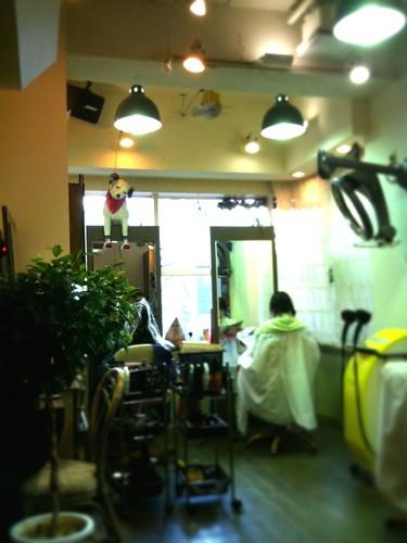 町田駅前美容室アミティの内装