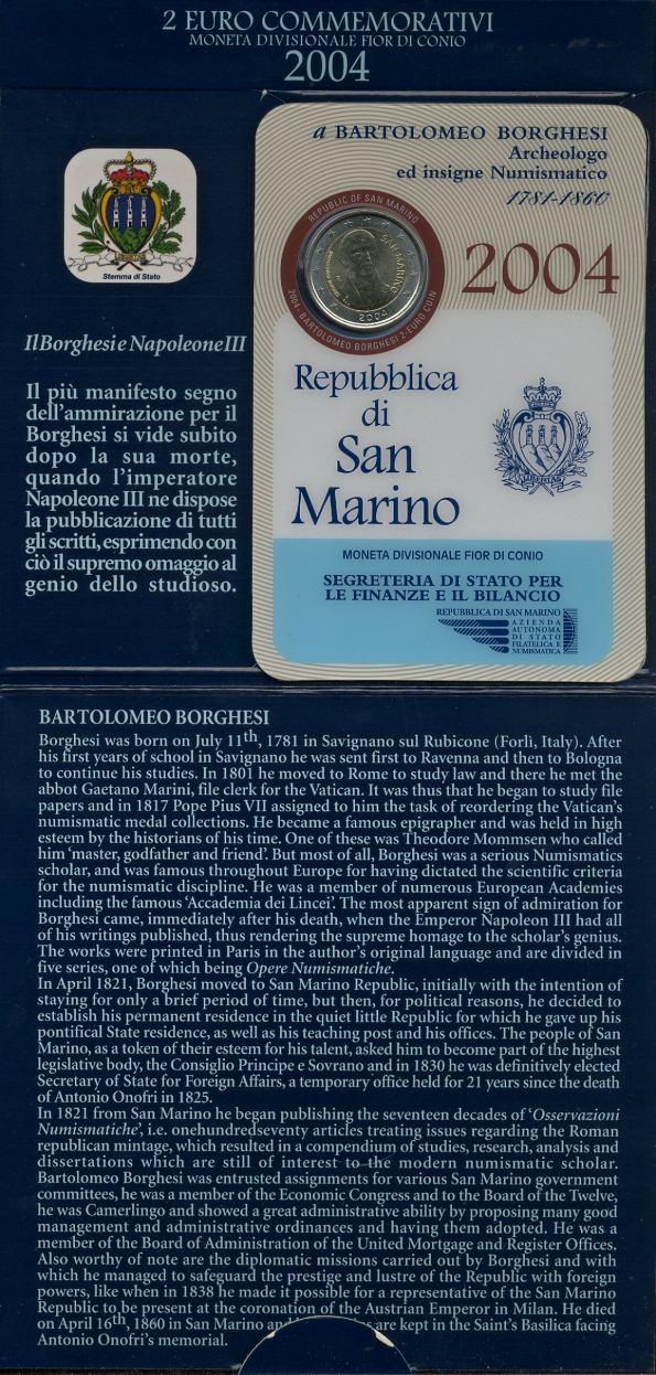 Oficiálne bal. 2 Euro San Marino 2004, Borghesi