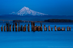 The Blues (Lance Rudge) Tags: longexposure blue nature landscape washington nikon mthood pilings 70200 impressedbeauty bw10stopnd lancerudge