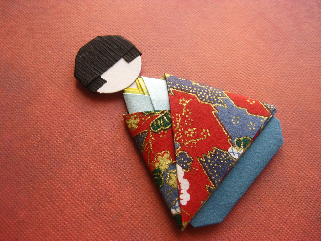 how to make chiyogami paper dolls