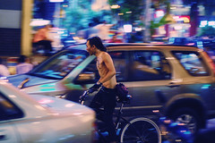 night rider (Chot Touch) Tags: street night 50mm fast bicycles malaysia fixie bb kl bukitbintang starhill candd basikal