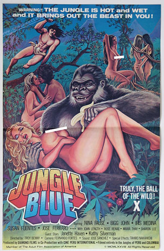 JUNGLE BLUE (1970) One Sheet