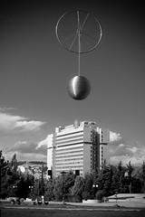 The Ball of Damocles (NickChino) Tags: ball justice ministry athens greece protection goudi rodopi damocles