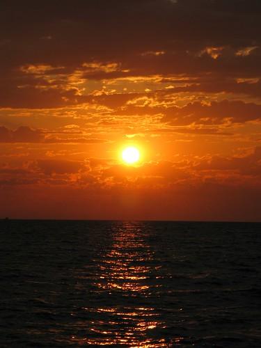Сочи, Адлерский район: Пляж (закат)