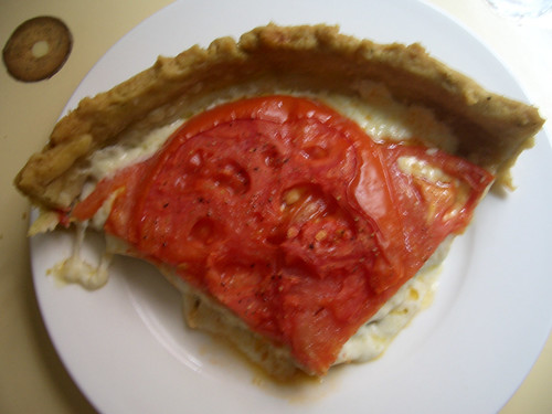 Tomato Mozzarella Tart with Basil Crust