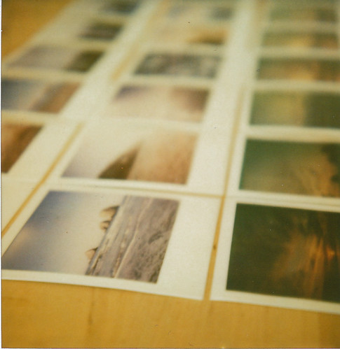 a polaroid of polaroids