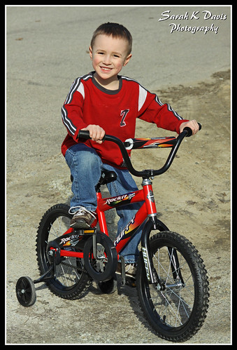 Caden on his new bike