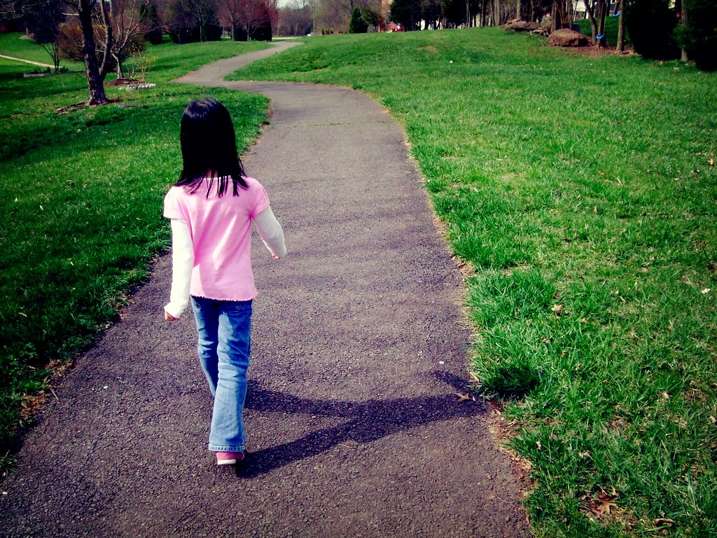day 84: she's taking off on her own path.