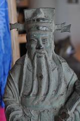 Statue at the Posh Den Asbury Park NJ (SharonOnTheMove) Tags: park new art statue gallery religion den jersey asbury posh budda