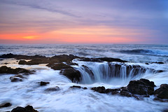 Neptune's Drain (Michael Bollino) Tags: ocean sunset sea seascape oregon coast spring nikon waves power hole northwest well drain oregoncoast yachats d300 michaelbollino