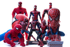 attack of the clones (stylesomega) Tags: statue toys action sony spiderman bank heads a200 figures bobble