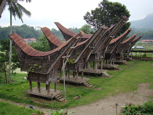 Traditional rice barns in Tana Toraja