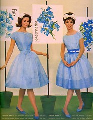 Blue Forget Me Not (sugarpie honeybunch) Tags: flowers blue fashion magazine 60s 1960s bows seventeen