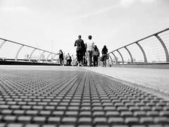 Building bridges (dreamwhile) Tags: people blackandwhite london brigde