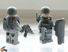 colour test  : Gunmetal Grey (ORRANGE.) Tags: orange metal grey amazing gun colours lego armory