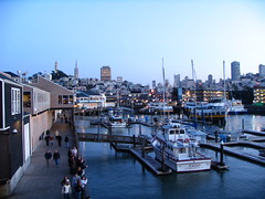 Fisherman's Wharf and San Fran in the background