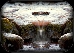 Just a Trickle (Tricia P. Speck) Tags: park water effects moss stream stones creative running national tricia brecon beacons patricia speck