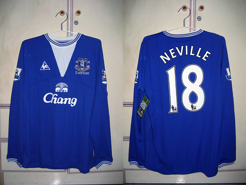 Everton 2009-2010 Home L/S (NEVILLE)