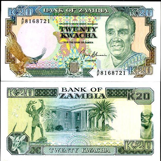 ZAMBIA 20 KWACHA 1989-91 P32
