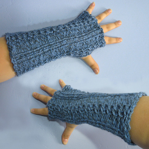Spring fingerless mitts
