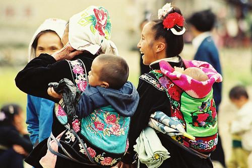 Xijiang Carrying babies