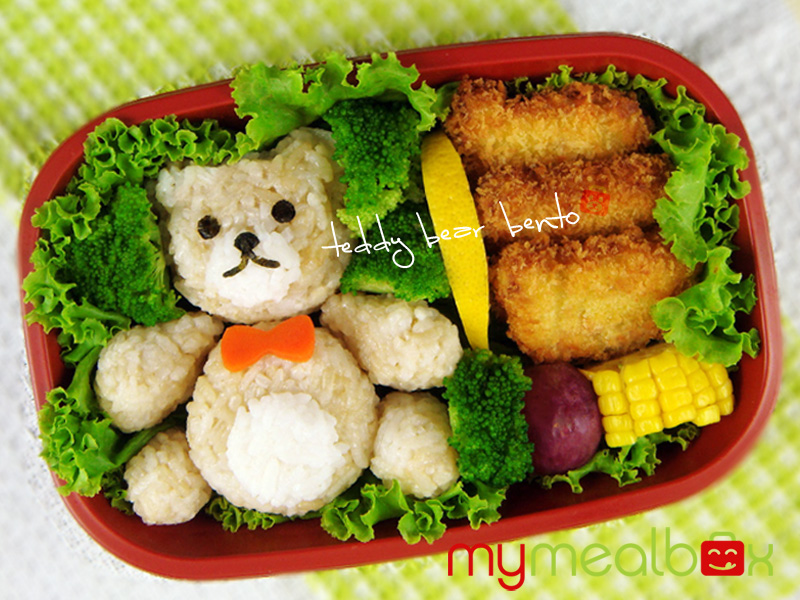 Teddy bear bento
