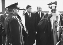 John F. Kennedy;David M. Shoup;Saud Ibn Abdul Aziz [RF: Saudi Arabia RF] (K_Saud) Tags: david john king andrews force unitedstates general air president ibm saudi arabia lf base abdul kennedy rf aziz ibn saud shoup timeincnotown 1005325