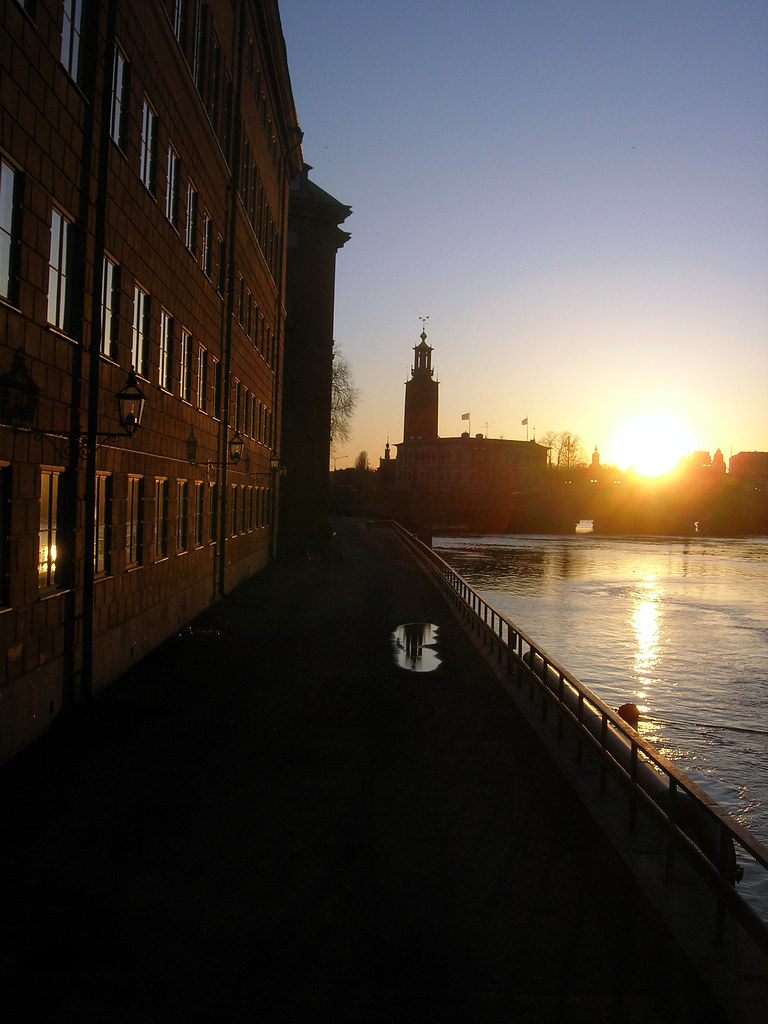Sunset from Stallbron, Stockholm