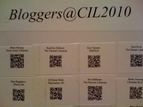 CIL2010 QR codes for bloggers