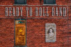 Ready To Roll Backdrop (Majtek862) Tags: door brick promotion wall poster design band entrance advertisement kansascity backdrop