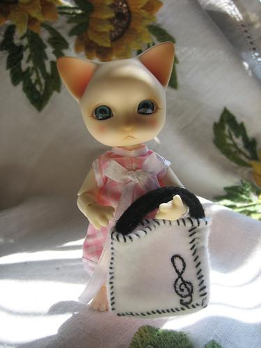 Ginger musical sunny cat