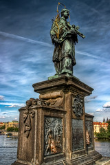 Wish (Miroslav Petrasko (blog.hdrshooter.net)) Tags: bridge statue canon republic czech prague jan sigma praha most wish karlov topaz karls 18200mm photomatix 450d nepomucky