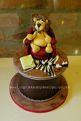 Tobie's Lion Birthday Cake (Dot Klerck....) Tags: red cake southafrica chair chocolate wildlife lion capetown dot couch zebra weddings cupcakesbydesign