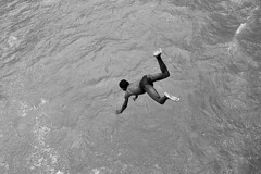 STP-Ribeira Afonso-0910-74-bw3 (anthonyasael) Tags: africa boy people black water horizontal swimming river naked fun happy canal kid scary dangerous jumping african pollution environment leisure bathing scared stp polluted saotome zonasul southernregion saotomeandprincipe anthonyasael ribeiraafonso
