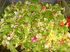 flower and lettuce salad