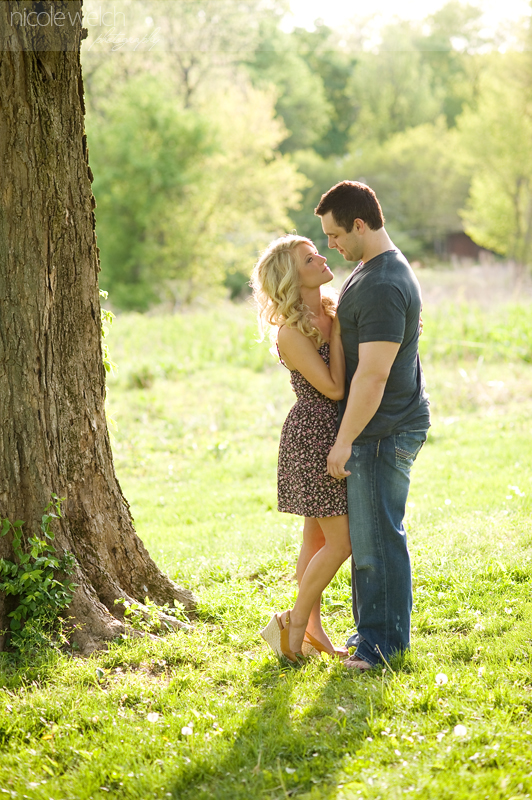 st. louis engagement photography by nicole welch at faust park