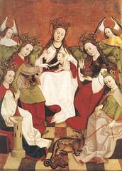 "Anonymus: ""Matrimonio mistico"" or ""Virgo inter virgines"" (petrus.agricola) Tags: saint dorothy child dragon madonna ring barbara catherine margaret matrimonio virgo inter katharina dorothea mistico margarethe virgines"