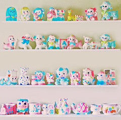 (boopsie.daisy) Tags: bear pink blue baby elephant cute bunny ice yellow japan set train truck vintage puppy pig 60s pretty sheep display sweet planters turtle many room group cream kitsch carousel collection made pastels gathering bunch 70s lamb multiple 50s giraffe humpty dumpty shelving planter darling shelves lots multi stork sadies