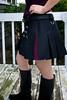Black / Purple Mini Alt.Skirt