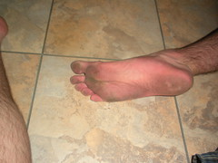 My dirty right foot ;) (Night Time Barefooter) Tags: man male guy feet walking toes walk dirty barefoot heels rough tough soles barefooting calloused barefooter barfus