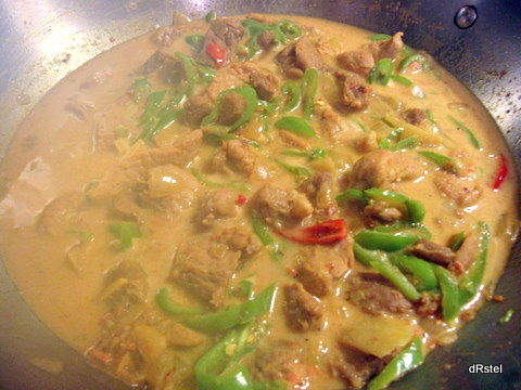 spicy pork with coconut and chilies
