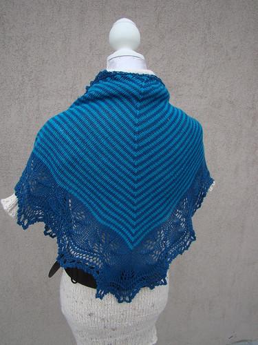 Blue Cashmere Andrea's Shawl