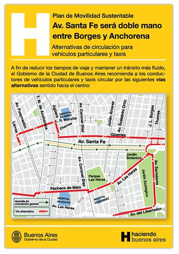 Vias Alternativas de La Avenida Santa Fe
