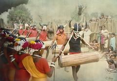 Entrance of The Drummers (Muria 7) (Collin Key) Tags: india youth jungle ind adivasi chhattisgarh muria bastar youthhouse ghotul collinkey chelik nayanar gondtribes tribalpeopleofindia villagedormitory motiari kingdomoftheyoung verrierelwin rodericknight