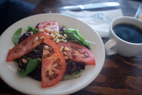 Verde Salad w/ Pine Nuts. Stumptown Coffee