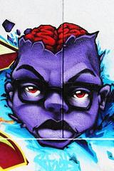 (--Hlne--) Tags: street black art graffiti noir tag graf violet dessin peinture rue mur lunette tte visage graffeur tagger crne personnage cerveau cervelle taggeur graffer cranien cranienne