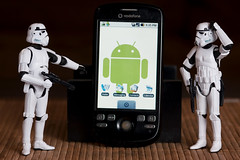 Is this the droid? (-spam-) Tags: canon toys starwars phone magic 85mm plastic stormtrooper 365 figurine android blaster htc spacetrooper 40d