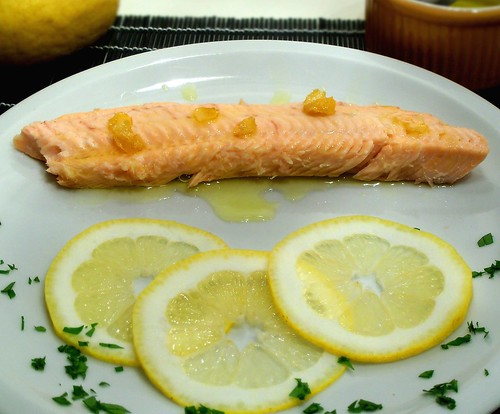 Trota al sale ed olio al limone