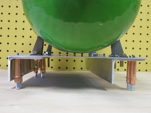 Oxygen Tank on Platform, Side View
