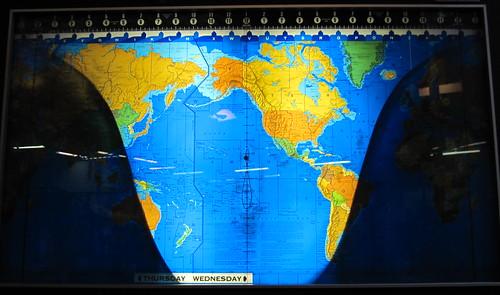 World Map At Night. Day-Night world map at the